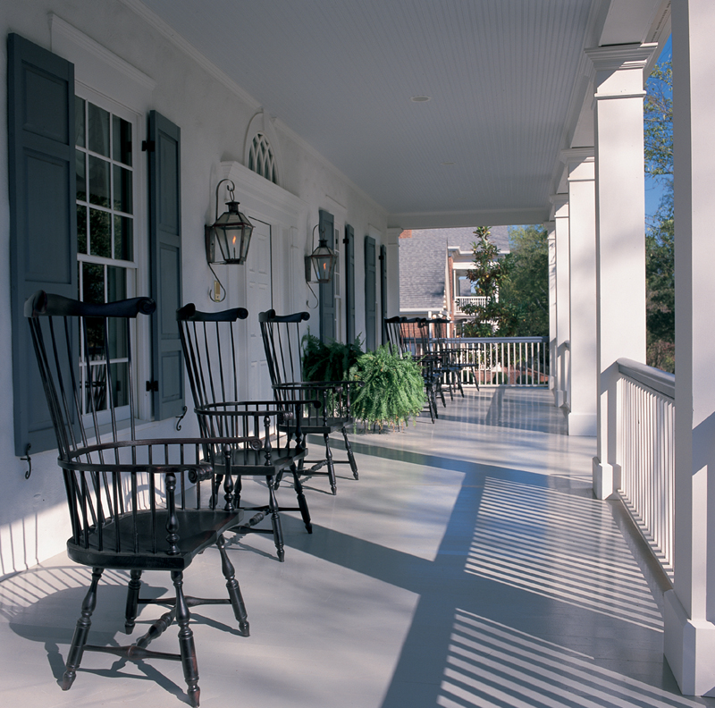 Traditional House Plan Porch Photo 01 - Garrison Colonial Home 128D-0004 | House Plans and More
