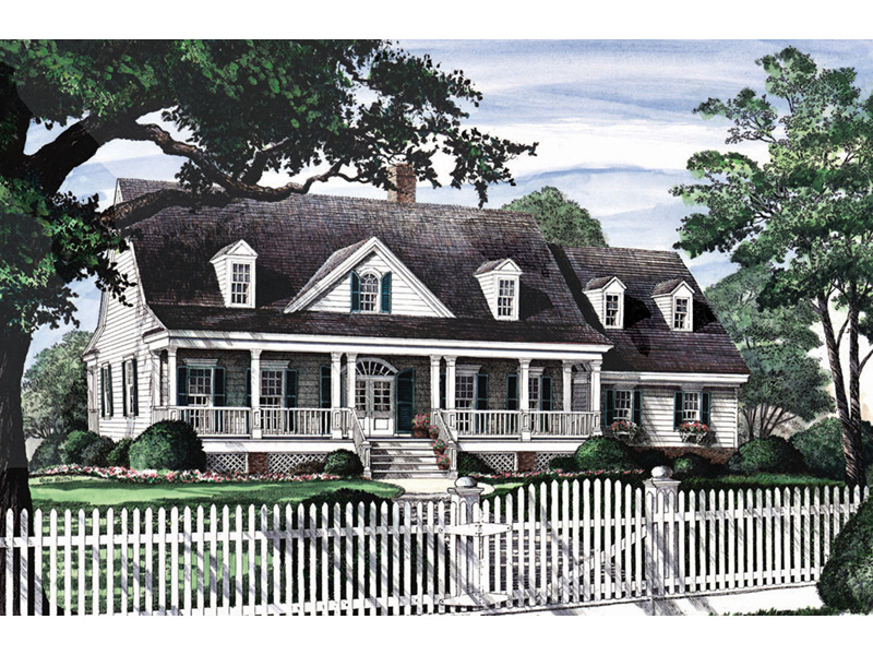 Ranch House Plan Front Image - Backbay Cottage Country Home 128D-0017   House Plans and More