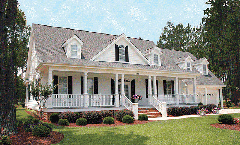 Ranch House Plan Front of Home - Backbay Cottage Country Home 128D-0017   House Plans and More