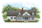 Ranch House Plan Rear Photo 02 - Backbay Cottage Country Home 128D-0017   House Plans and More