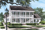 Southern House Plan Front of Home - Baystreet Plantation Home 128D-0022 | House Plans and More