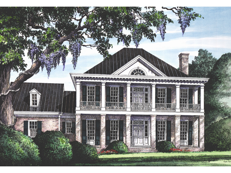 Early American House Plan Front Image - Beaumont Colonial Home 128D-0025 | House Plans and More
