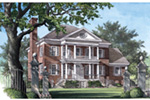 Luxury House Plan Front Image - Brewton House Georgian Home 128D-0032   House Plans and More