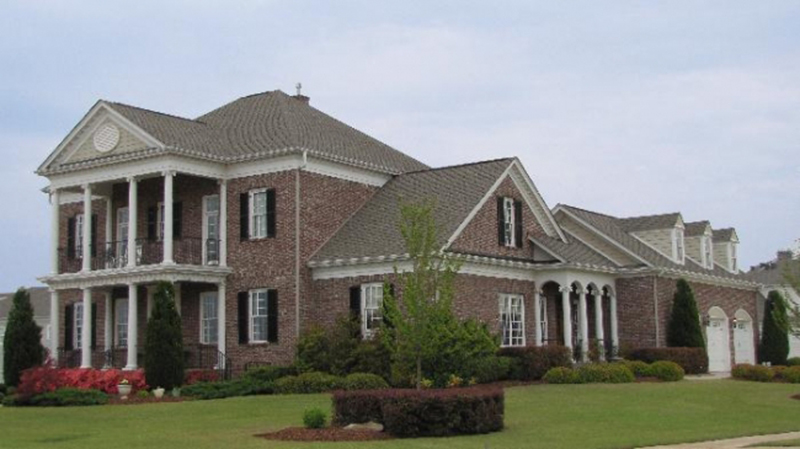 Luxury House Plan Front of Home - Brewton House Georgian Home 128D-0032   House Plans and More