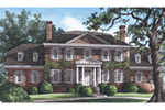 Traditional House Plan Front of Home - Broadland Traditional Home 128D-0034 | House Plans and More