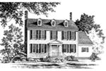 Greek Revival House Plan Front of Home - Capital Colonial Home 128D-0043 | House Plans and More