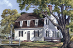 Cabin & Cottage House Plan Front Image - Ewing House Cape Cod Cottage 128D-0069 | House Plans and More
