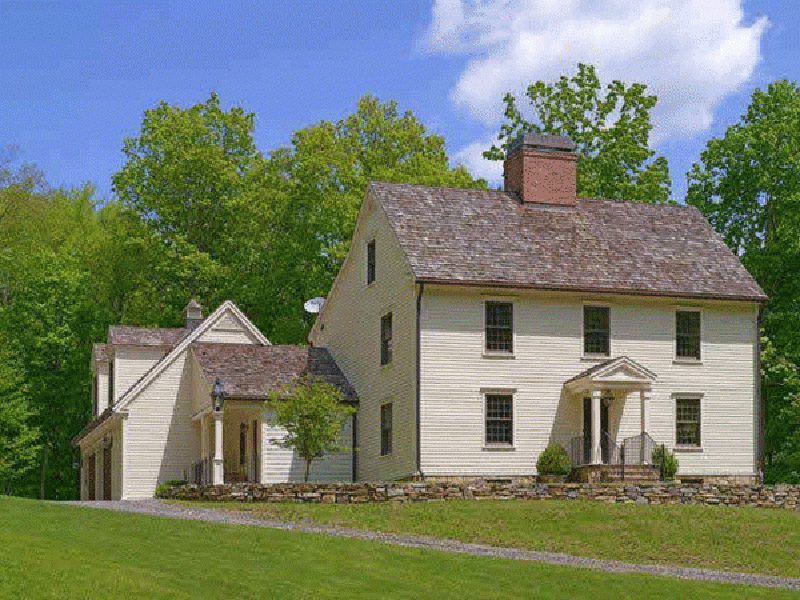 Farmhouse Plan Front Photo 02 - Guilford Hill Colonial Home 128D-0075 | House Plans and More
