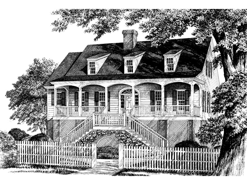 Southern House Plan Front Image of House - Mossy Point Plantation Home 128D-0099 | House Plans and More