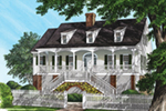 Southern House Plan Front of Home - Mossy Point Plantation Home 128D-0099 | House Plans and More