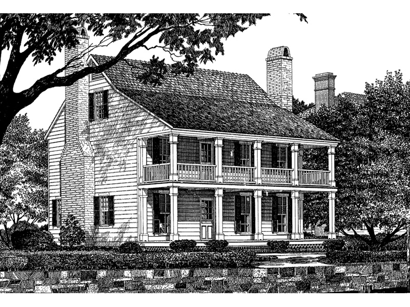 Southern Plantation House Plan Front Image of House - Nelson House Plantation Home 128D-0107 | House Plans and More