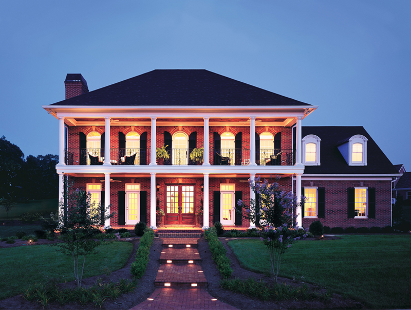 Colonial House Plan Front of Home - New Iberia Plantation Home 128D-0108 | House Plans and More