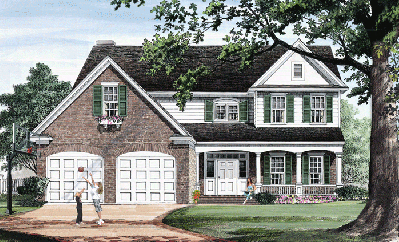 Traditional House Plan Front of Home - 128D-0234 | House Plans and More