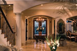 Luxury House Plan Foyer Photo - Howards Ridge Luxury Home 129S-0011   House Plans and More