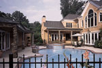 Luxury House Plan Rear Photo 02 - Howards Ridge Luxury Home 129S-0011   House Plans and More