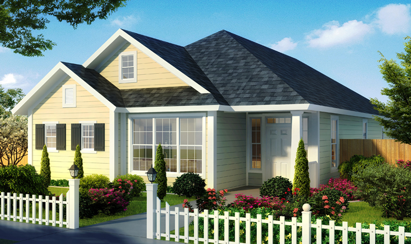 Craftsman House Plan Front of Home - Topfield Country Ranch Home 130D-0344 | House Plans and More