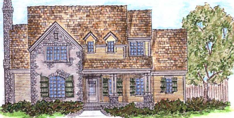 European House Plan Front of Home - Parsons Cove Traditional Home 137D-0004 | House Plans and More