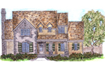 Ranch House Plan Front of House 137D-0004