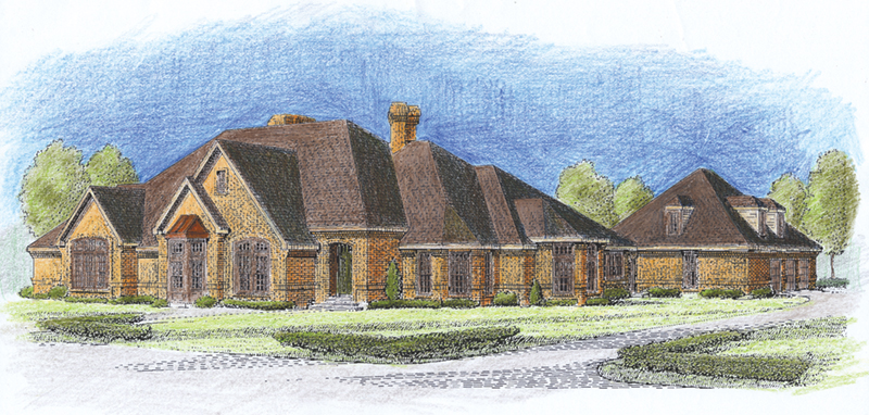 European House Plan Front of Home - Sherwick Luxury Ranch Home 137D-0015 | House Plans and More