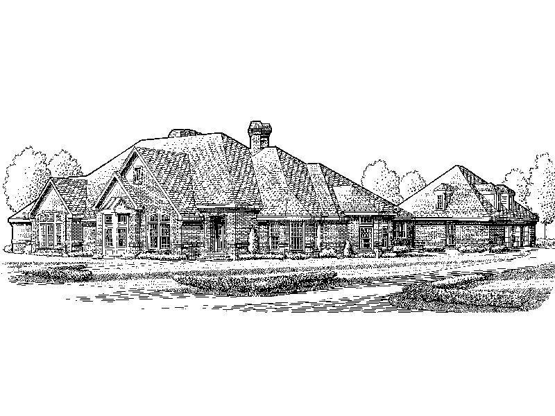 European House Plan Front Image of House - Sherwick Luxury Ranch Home 137D-0015 | House Plans and More