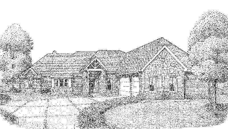Ranch House Plan Front of Home - Taregan Craftsman Home 137D-0026 | House Plans and More