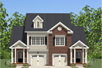 Ranch House Plan Front of Home - Essex Place Duplex Home 139D-0002 | House Plans and More