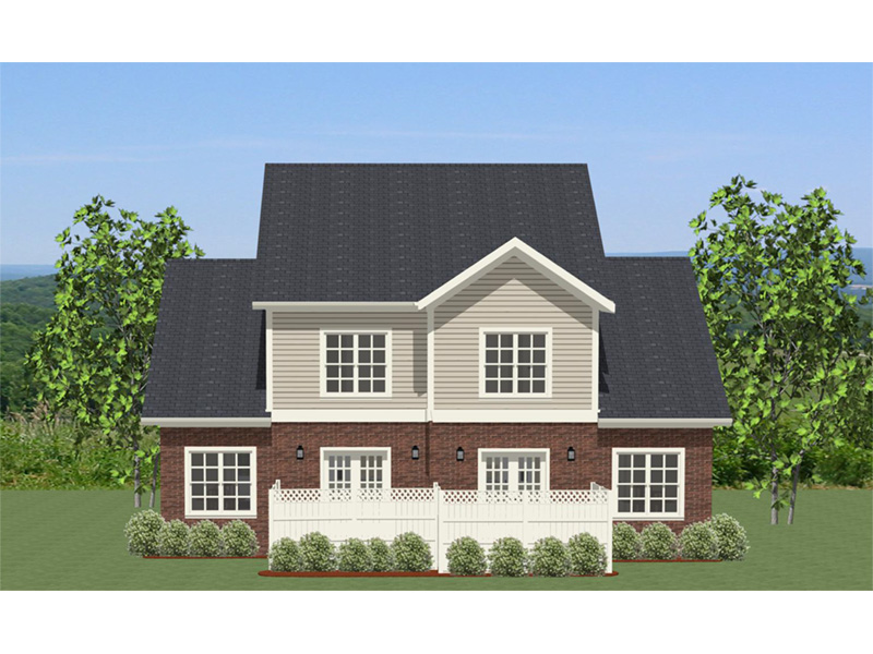 Ranch House Plan Rear Photo 01 - Essex Place Duplex Home 139D-0002 | House Plans and More