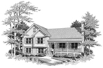 Traditional House Plan Front of Home - Holston Traditional Home 140D-0005   House Plans and More
