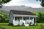 Vacation House Plan Front of House 141D-0001