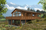Lake House Plan Front of House 141D-0002