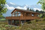 Beach & Coastal House Plan Front of House 141D-0003