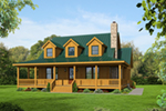 Vacation House Plan Front of House 141D-0015