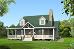 Traditional House Plan Front of House 141D-0016