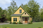 Bungalow House Plan Front of House 141D-0017