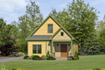 Ranch House Plan Front of House 141D-0018