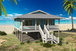 Waterfront House Plan Front of House 141D-0021