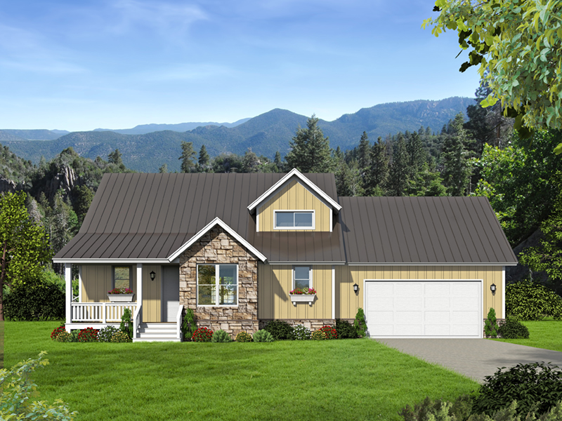 Arts & Crafts House Plan Front of Home -  141D-0145 | House Plans and More