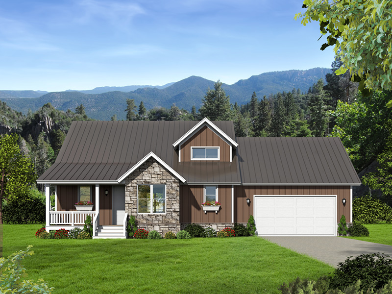 Arts & Crafts House Plan Front Photo 01 -  141D-0145 | House Plans and More
