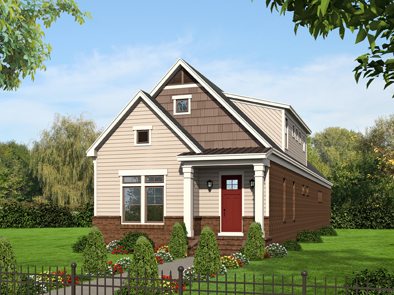 Craftsman House Plan Front of Home -  141D-0246 | House Plans and More