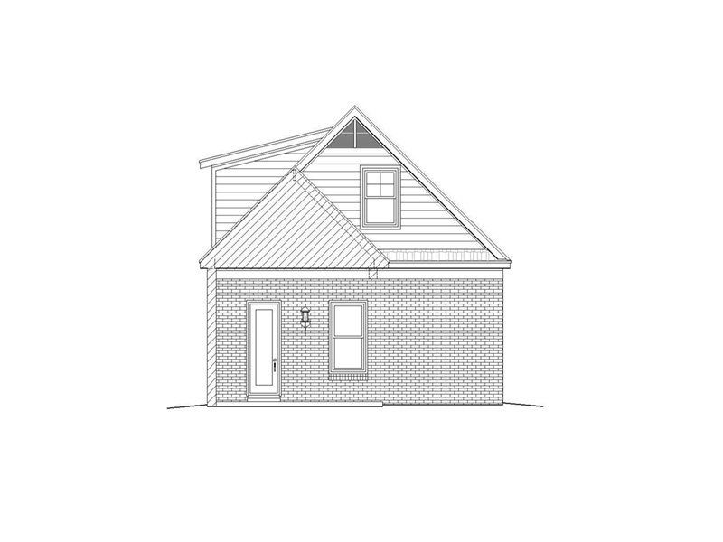 Craftsman House Plan Rear Photo 01 -  141D-0246 | House Plans and More