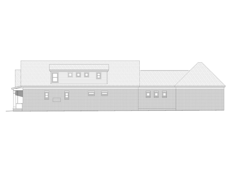 Craftsman House Plan Side View Photo -  141D-0246 | House Plans and More