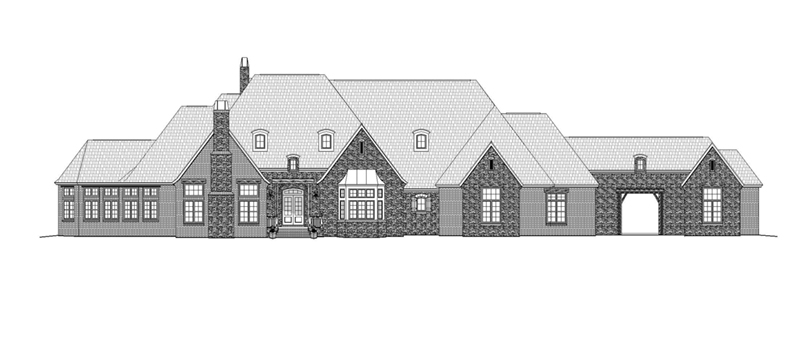 Georgian House Plan Front of Home -  141D-0206 | House Plans and More