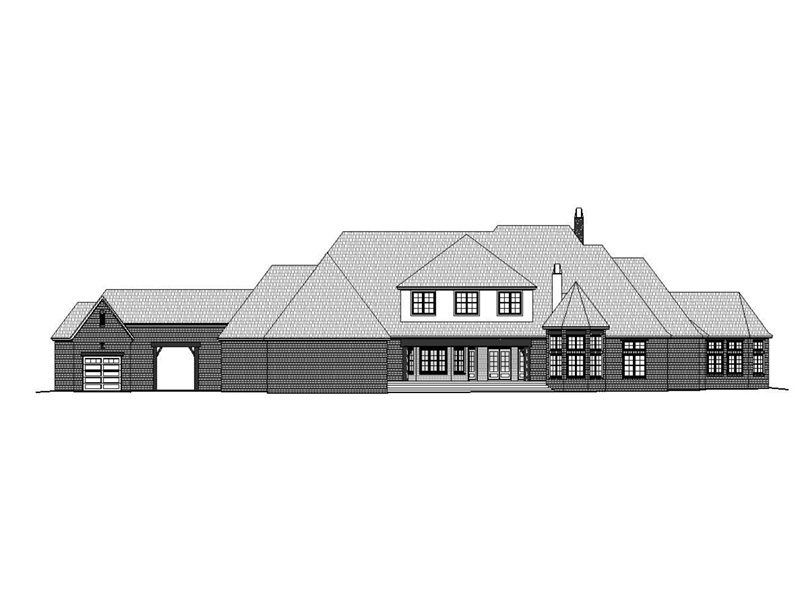 Georgian House Plan Rear Photo 01 -  141D-0206 | House Plans and More