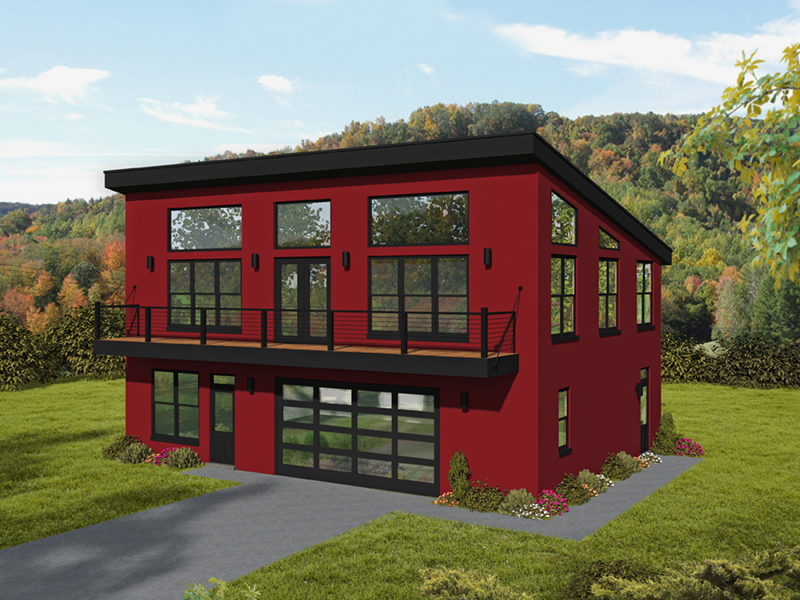 Waterfront House Plan Front of Home - 141D-0339 / House Plans and More