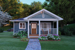 Craftsman House Plan Front Night Photo 01 - 144D-0013 | House Plans and More