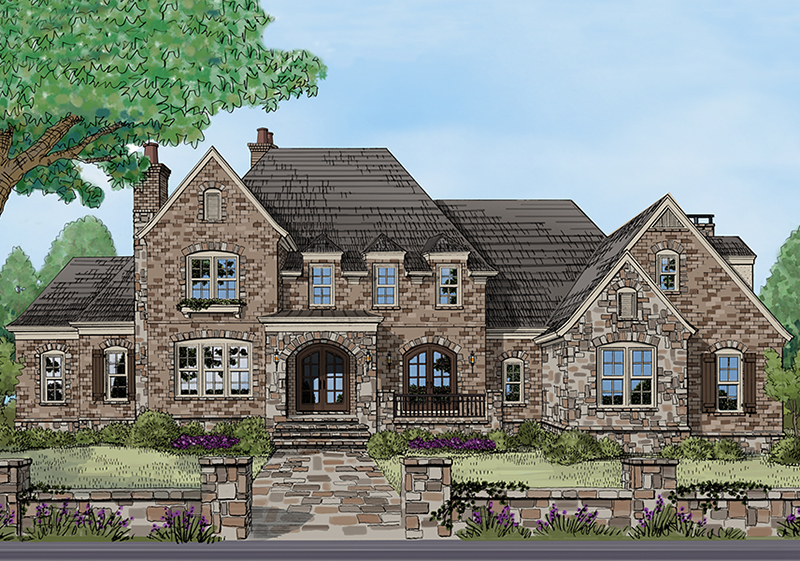 Luxury House Plan Front of Home - Ford Creek European Home 149D-0002 | House Plans and More