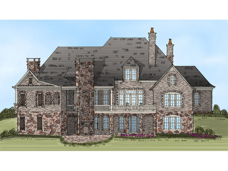 Luxury House Plan Rear Photo 01 - Ford Creek European Home 149D-0002 | House Plans and More