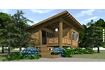 Contemporary House Plan Front Image - Island View Vacation Cottage 152D-0048 | House Plans and More