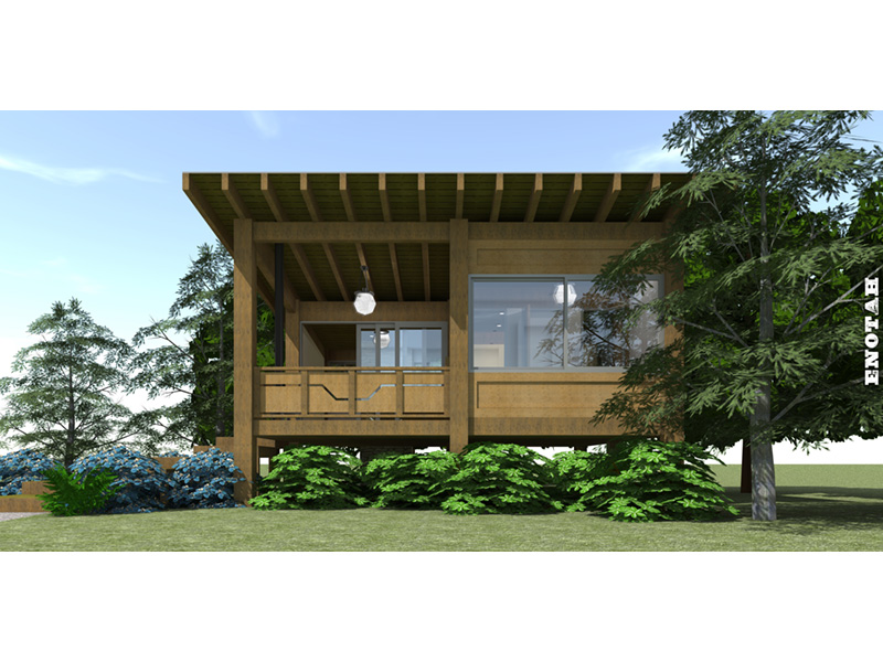 Contemporary House Plan Side View Photo 02 - Island View Vacation Cottage 152D-0048 | House Plans and More