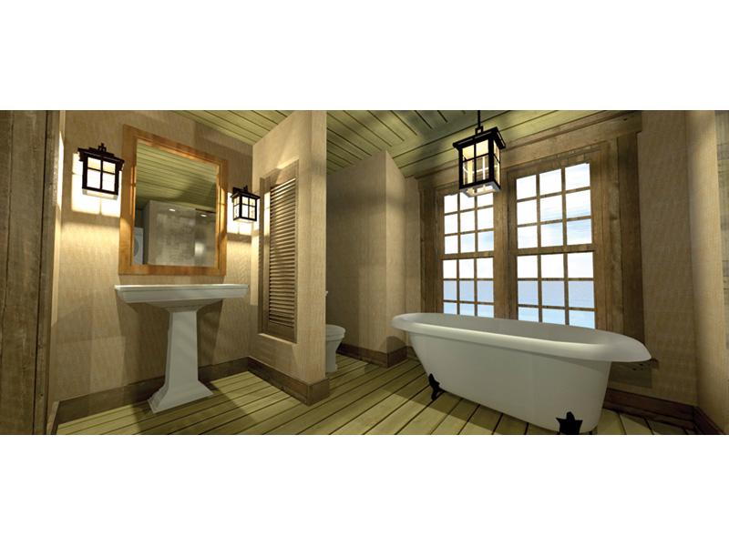 Building Plans Bathroom Photo 01 - Duck Blind Coastal Cottage 152D-0055 | House Plans and More